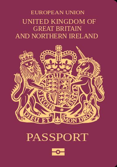英國公民護照封面